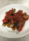 夏野菜の肉巻きトマト煮
