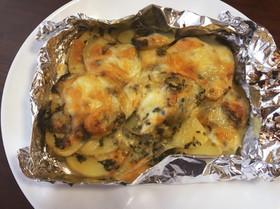 ポテトの大葉味噌とチーズ焼き