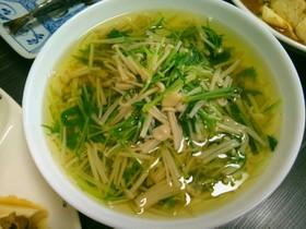 水菜とえのき茸の煮びたし