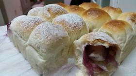 ブルーベリージャムとクリチのちぎりパン