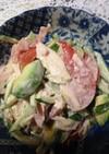 鳥ハムとアボカドとトマトのサラダ