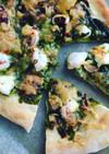 海苔の佃煮とイカのピザ!