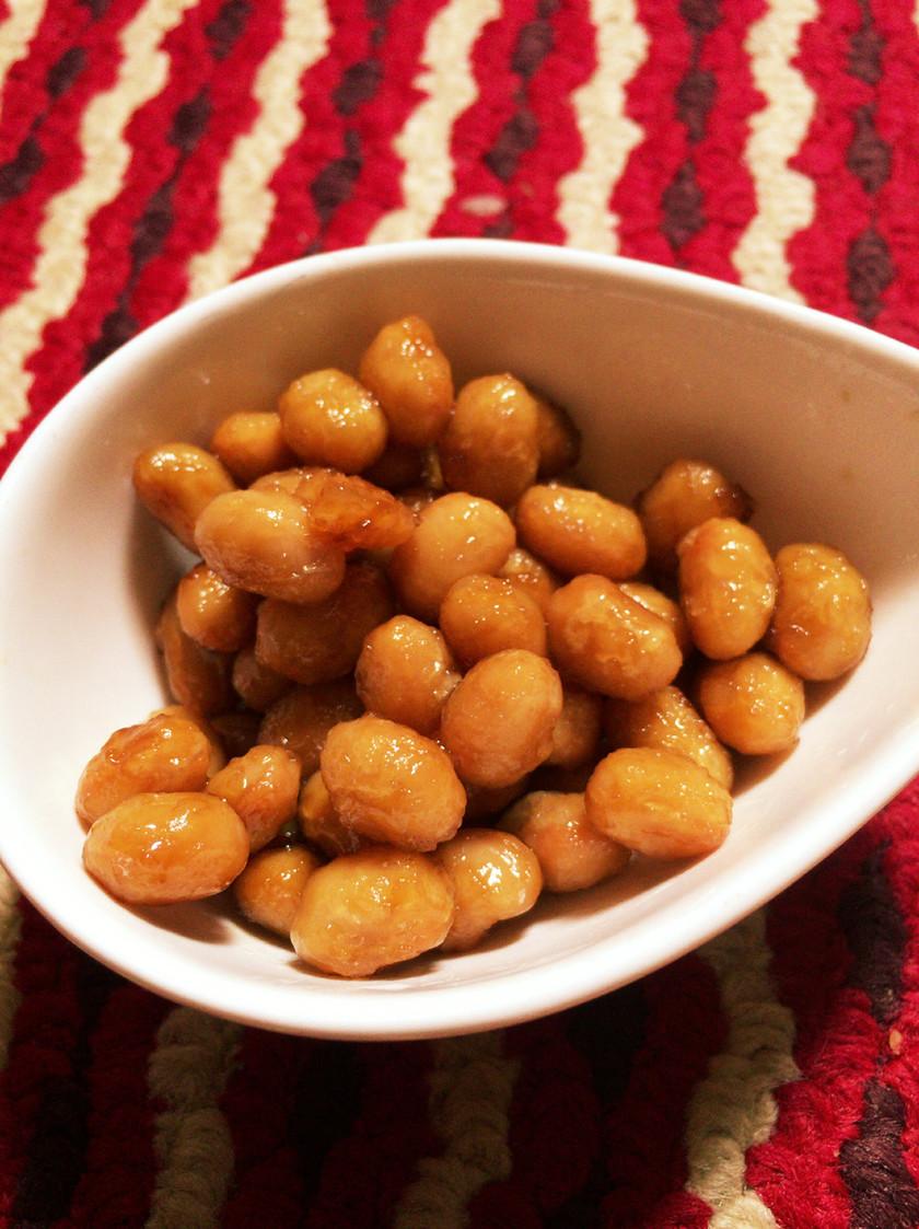 おやつ感覚でパクパク甘辛炒り大豆