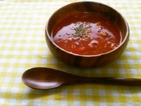 【簡単・お手軽】冷製サバトマトスープ