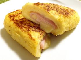 ハム&チーズのロールフレンチトースト