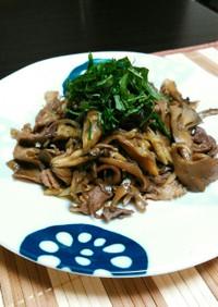 豚こま・舞茸・茗荷♬甘辛炒め煮☆