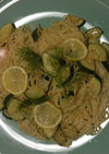 ズッキーニと塩麹のレモンパスタ