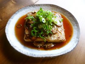 豆腐ステーキ☆ガリバタ醤油♪
