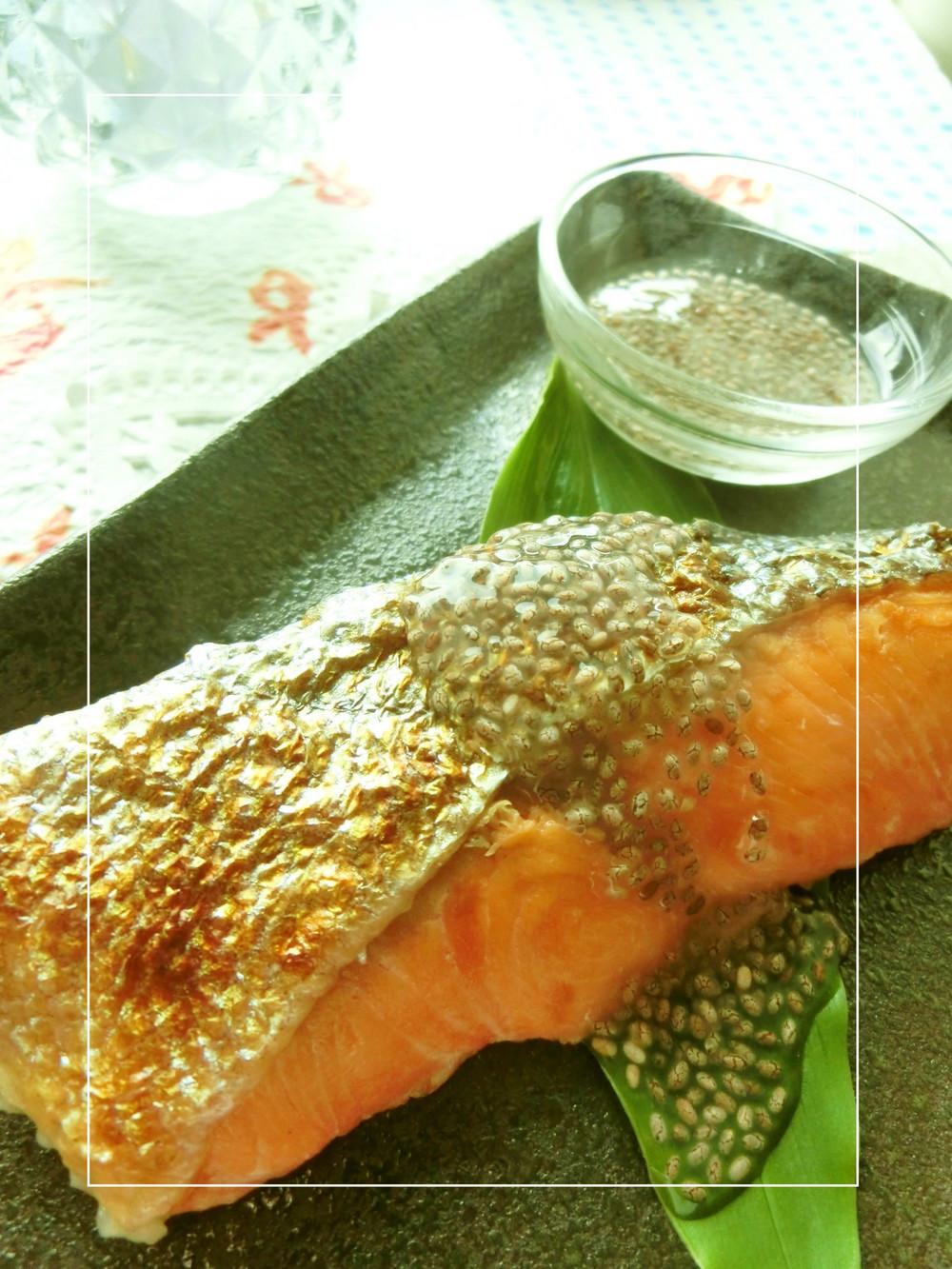 3 鮭と生姜レモンジュレ