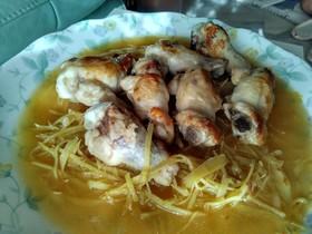 鶏チューリップで客家料理(黄酒鶏)