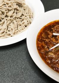 さっぱり!中華鍋で作る麻婆つけ蕎麦