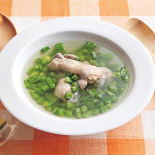 青い豆のスープ