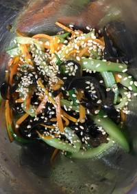 キュウリと人参とキクラゲの中華風サラダ