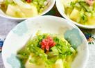 たまご豆腐に、白菜&紅生姜♪