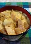 庄内風味噌味豚肉芋煮→カレー牛乳うどん