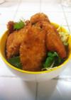 ☆鶏胸肉の薄切りチキンソースカツ丼☆