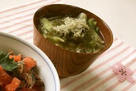 レタスの中華とろりん中華スープ