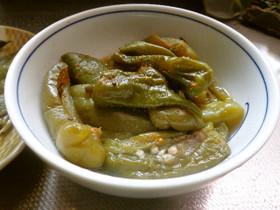最速のピーマンとナタ豆の炒め煮