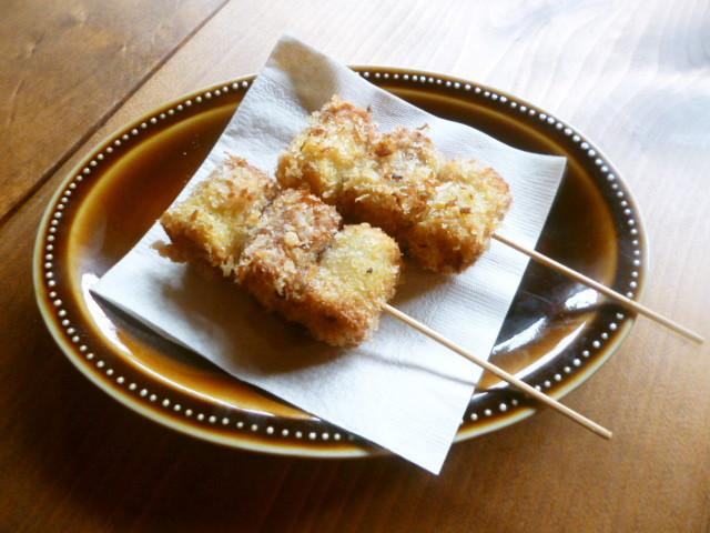 竹輪とチーズの串カツ♪