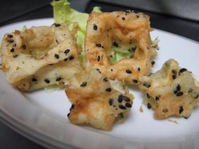 はんぺんの天ぷらゴマ風味