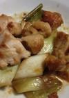 鶏肉と長ネギの甘辛お酢炒め
