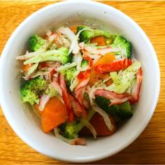 時短レンジだけ♪旬野菜の簡単アヒージョ!