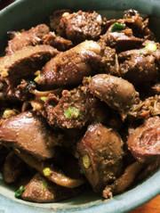 鶏レバーの甘辛煮の写真