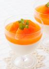 ルビーオレンジとパンナコッタの二層ゼリー