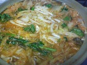 辛ウマ★味噌ベースのキムチ鍋