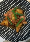 鶏肉と揚げじゃが芋の山椒風味煮