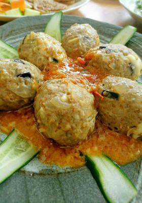 薬膳  チーズin夏野菜ハンバーグ