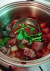 牛スネ肉と揚げ大根の煮込み