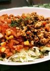 サルサ&タコスミートサラダ蕎麦♪