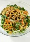 蓮根と水菜のごま酢サラダ*デリ風