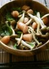 【簡単】シメジとウインナーのガリバタ焼き