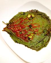 韓国家庭料理 エゴマの葉キムチの写真