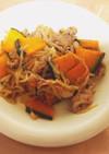 かぼちゃと豚肉の節約野菜炒め