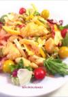 彩り野菜とささみdeオーロラソースソテー