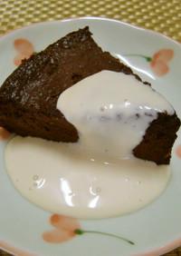 ★ガトー・ショコラのミルククリーム添え♪