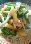 鶏胸肉とじゃが芋とピーマンのあっさり炒め
