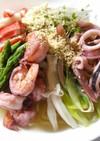インスタント麺で☆海鮮冷やしラーメン