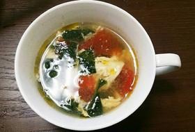 卵とトマトの夏野菜スープ
