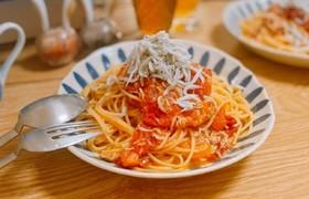 簡単☆シンプル☆トマトとシラスのパスタ