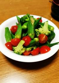 しっかり冷やして簡単!夏野菜のおひたし