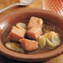 鮭のにんにくオイル煮