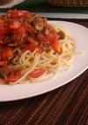 トマトと舞茸の冷製パスタ