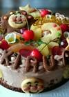 アンパンマンチョコレートケーキ。