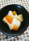 梅の花 の杏仁豆腐♪  もちもち嶺岡豆腐