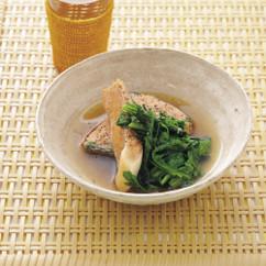 塩鮭と春菊煮