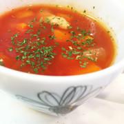 野菜たっぷりトマトスープの写真